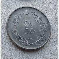 Турция 2,5 лиры, 1967 7-8-19
