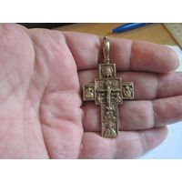Крест латунный в позолоте. Торги!