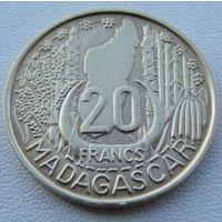 Мадагаскар. 20 франков 1953 год  KM#7
