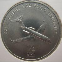 Северная Корея 1/2 чона 2002 г. ФАО. Самолет. В холдере (gk)