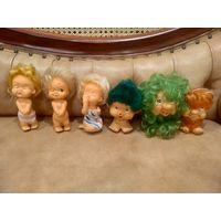 Кукла пупс игрушки ГДР 1984-1986 годов цена за единицу на выбор. пупс голый, девочка красит губы,и пупс с рыжими волосами продан.