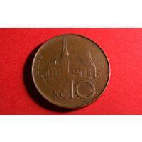 10 крон 1994. Чехия.