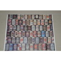 Импортный  плакат из 90-х о всех сортах  немецкого пива.