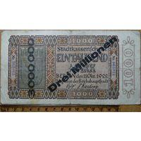 3 миллиона марок 1922-1923г. Берлин (1000 марок перепечать)
