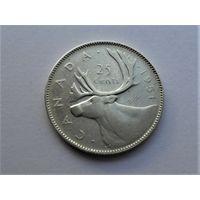 Канада 25 центов 1951