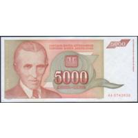 5000 динаров 1993г. UNC