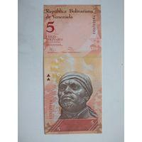Венесуэла 5 боливаров 2014 UNC