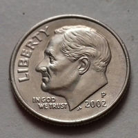 10 центов (дайм) США 2002 Р, AU