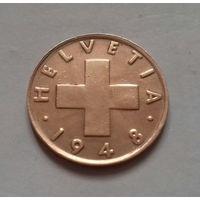 2 раппена, Швейцария 1948 г.