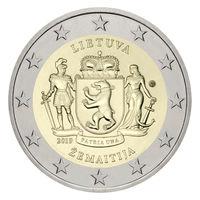 2 евро 2019 Литва Жемайтия UNC из ролла