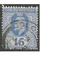 Цейлон. Король Эдуард VII. 1903г. Mi#153.