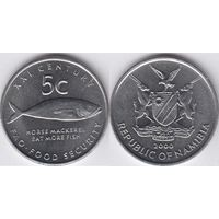Намибия 5 центов 2000 FAO UNC
