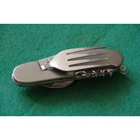 Нож туристический   ( 6 в одном )