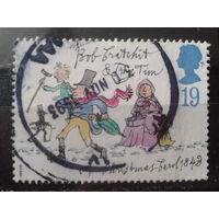 Англия 1993 Рождество, иллюстрация романа Ч. Диккенса