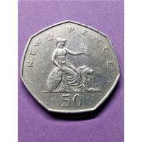 Великобритания 50 новых пенсов 1969