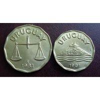 Уругвай. 2 монеты 1981 г.