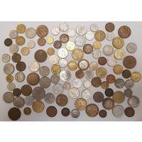 Сборный лот 23 страны, 100 монет, все разные