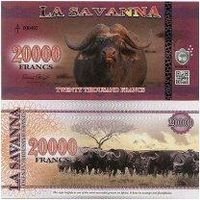 Саванна - 20000 Франков 2016 UNC (Буйволы)  распродажа