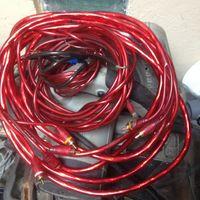 """Качественные провода для """"автозвука"""" 3-йные позолоченные тюльпаны."""