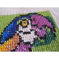 Вышивка Попугай