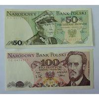 50 и 100 злотых 1988г. Польша.