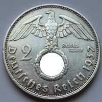 Германия, 2 марки 1937 А (серебро)
