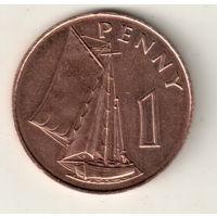 Гамбия 1 пенни 1966
