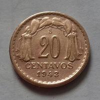 20 сентаво, Чили 1943 г.