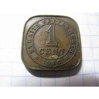 Straits Settlements 1 цент 1920 ( поселения Стрэйт )