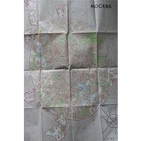 Карта Москвы 1986 года