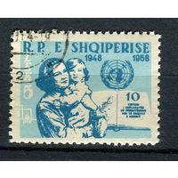 Албания - 1959 - 10-летие подписания Всеобщей декларации прав человека - [Mi. 590] - полная серия - 1 марка. Гашеная.