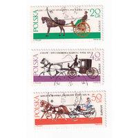 1965 Кареты (Польша) 3 марки