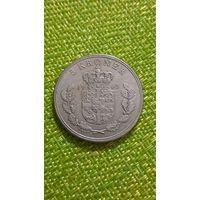 Дания 5 крон 1963 г ( тир 709 тыс. )