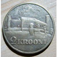 2 кроны 1930 г. (цифра 1 в году выпуска длиннее и нижнею частью касается канта). R