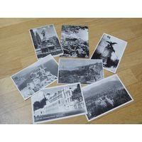 Старые ч/б фото почтовые карточки Крым, Смоленск (СССР, середина прошлого века)