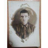 Фото солдата. 1942 г. 10х15 см