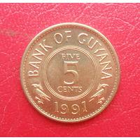 Гайана 1991 год, 5 центов