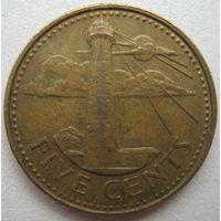 Барбадос 5 центов 1988 г. (g)