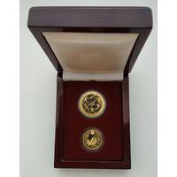 Футляр для 2 монет с капсулами 30.00 mm и 22.50 mm