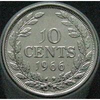 Либерия 10 центов 1966 KM#15a.1 (2-105)