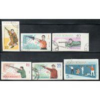 Спорт Стрельба Румыния 1965 год б/з серия из 6 марок