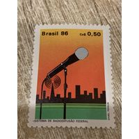 Бразилия 1986. Система радиовещания. Марка из серии