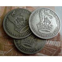Великобритания. Три монеты. 1 шиллинг 1929-32 г. Георг V.