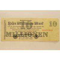 Германия, 10 миллионов марок 1923 год, серия А.