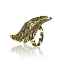 Кольцо Золотой лист