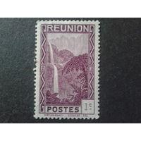 Реюньон, колония Франции 1933 водопад