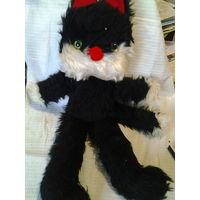 Мягкая игрушка. Черный кот. СССР.