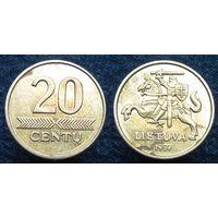 W: Литва 20 центов 1997 (586)