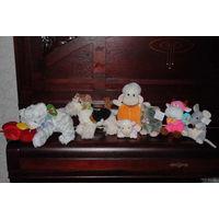 Полностью новые и забавные, фирменные мягкие игрушки_(одна из них-собака-музыкальная-гавкает)_оптом дешевле- всего 8 штук за 30 у.е.!