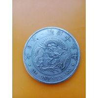 1 иена с драконом, 1881 год, эпоха Мейдзи